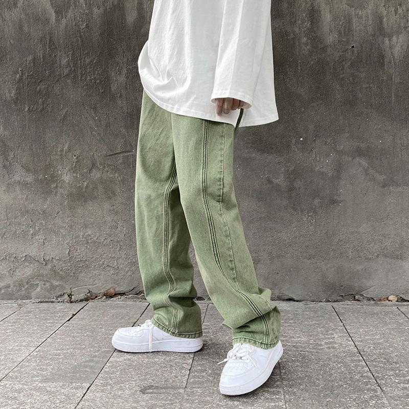 Sonbahar Privathinker 2021 Yeni erkek Kot Rahat Boy Hip Hop Streetwear Çift Gevşek Denim Pantolon CLO I3Z0