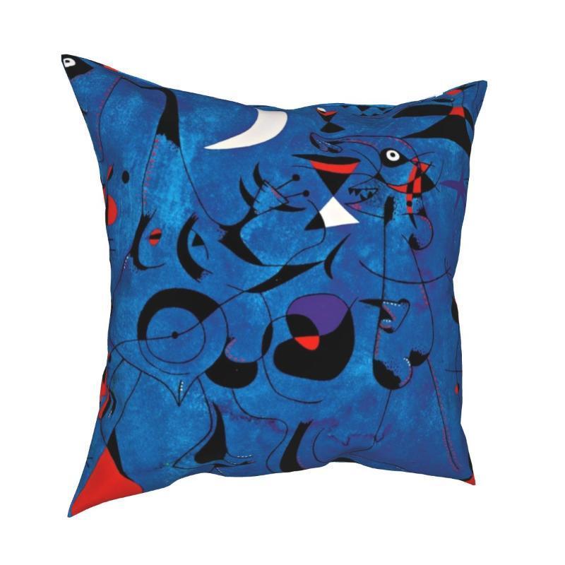 Kissen / dekorative Kissen Joan Miro Kissenbezug Kissenbezug Geschenk Geometrische Linien Abstrakt Fantastische bunte Wurfkiste Home 40 * 40cm