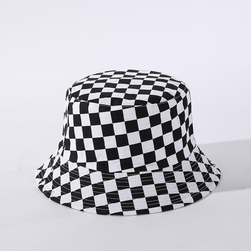 Sombreros de ala ancha Moda Pescador de doble cara Sombrero para mujer Sombra al aire libre Cubo de la marea salvaje Algodón para hombres Casquette