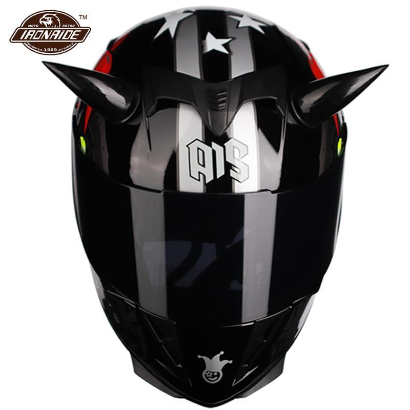 Casques de moto Casque modulaire Full Face Casco Moto Double Visière Double Viseur Double Tinner Motocross MotoCross Capacete