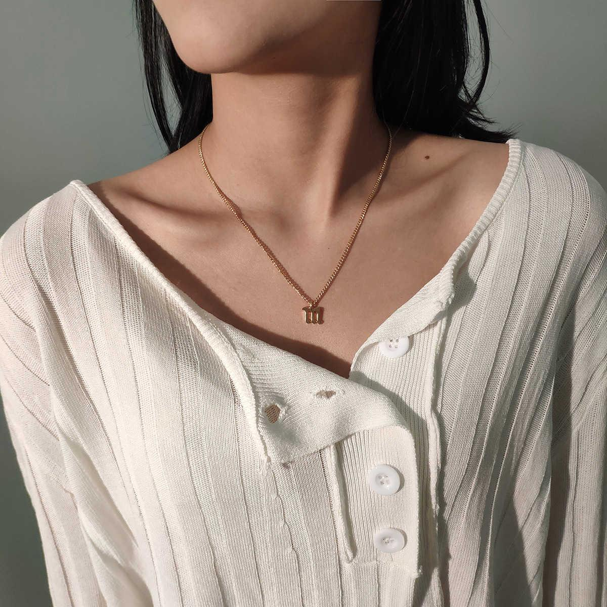 Moda Takı Kişiselleştirilmiş Metal Klavikula Boyun Zinciri Trendy Kadınlar Serin Mektup Alaşım Kolye