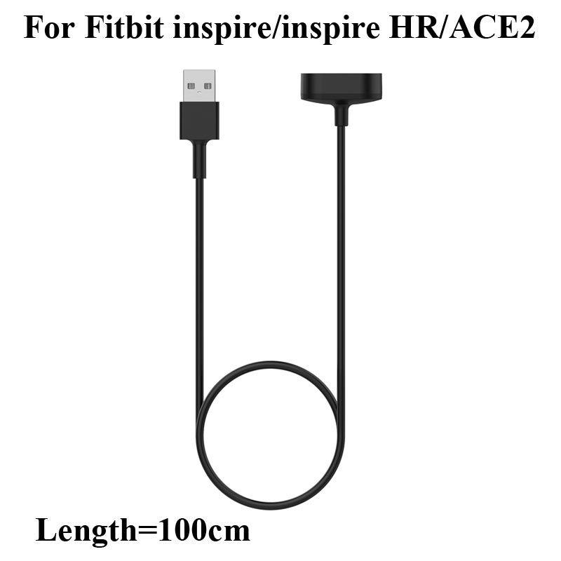 Fitbit Inspire ve Inspire Için 100 cm Uzunluk INSPIRE HR ACE2 Bileklik Yedek USB Şarj Kablosu Akıllı Bant ACE 2 Hızlı Şarj Hattı