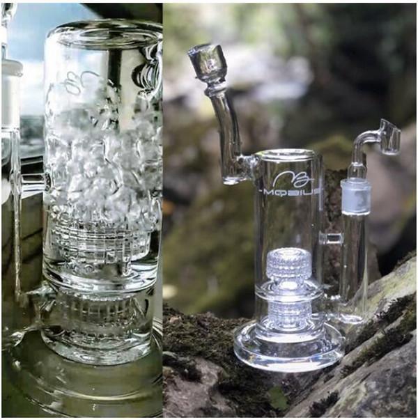 물 담뱃대 모욕적 인 유리 봉유 버너 파이프 안경 버블 러 리사이클 오일 장비 매트릭스 Perc 18mm와 귀여운 DAB
