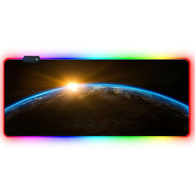 New 800*300*4MM Color rgb mouse pad led luminous mouse pad gaming oversized mouse pad free shipping