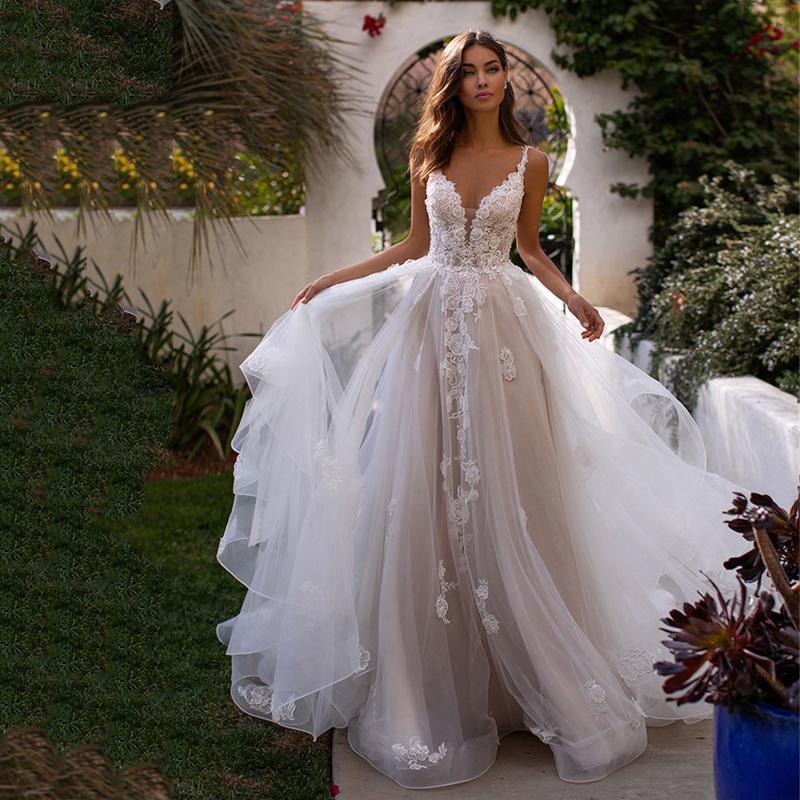 Wraps & Jackets 2021 Bohemian Long Skirt Bal Wedding Dr 3D Flower Shoulder Strap Spaghetti Princ Floor