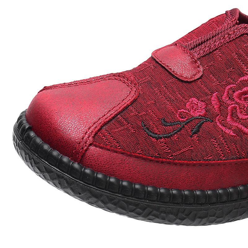 Özerklik Marka Kadın Işlemeli Ayakkabı Kırmızı Boyutu 32 En Kaliteli Spor Ayakkabı Düşük Kesilmiş Nefes Pedalı Rahat Ayakkabılar