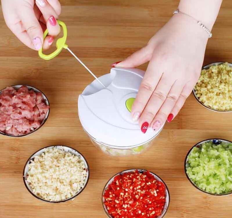 Küchenwerkzeuge Multifunktions Nahrungsmittel Chopper Knoblauchschneider Gemüse Slicer Speedy Chopper Werkzeuge Manuelle Fleischschleifer # 202110