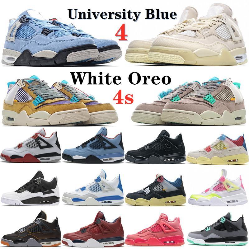 Vela preto gato sapatos jorden 4 4s goiaba torção de gelo branco cimento de Oreo o que os homens atlético de basquete Travis Obsidian Uncheyless Mulheres ao ar livre Sneakers