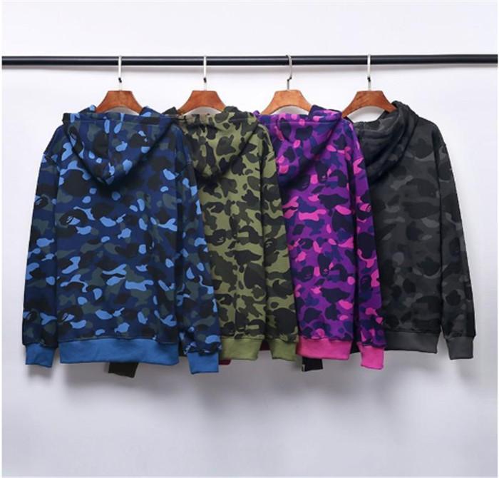 2021 Europeo e Americano Bodyguard BodyGuard Fashion Brand Camouflage Collare rotondo BodyGuard Shark Five Bar Joint Nome Cappotto Cappotto Pullover