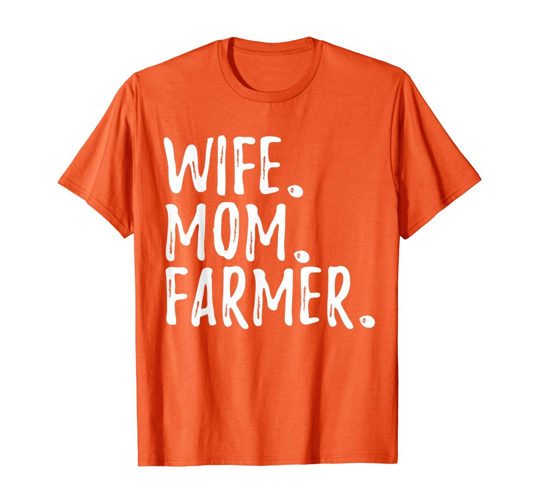 Presente engraçado do fazendeiro - t-shirt do fazendeiro da mamã da esposa