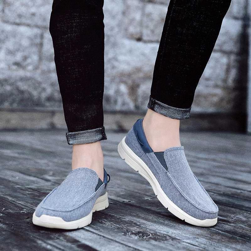الصيف مريح الانزلاق على المتسكعون الرياضة الشقق المشي أحذية ارض الركض الذكور أحذية رياضية للرجال zapatos de hombre i2us #