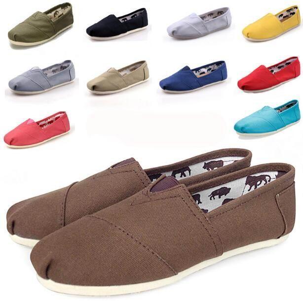 2021 Neue Größe 35-45 Neue Marke Mode Frauen Wohnungen Schuhe Sneakers Frauen und Männer Leinwand Schuhe Müßiggänger Freizeitschuhe Espadrilles