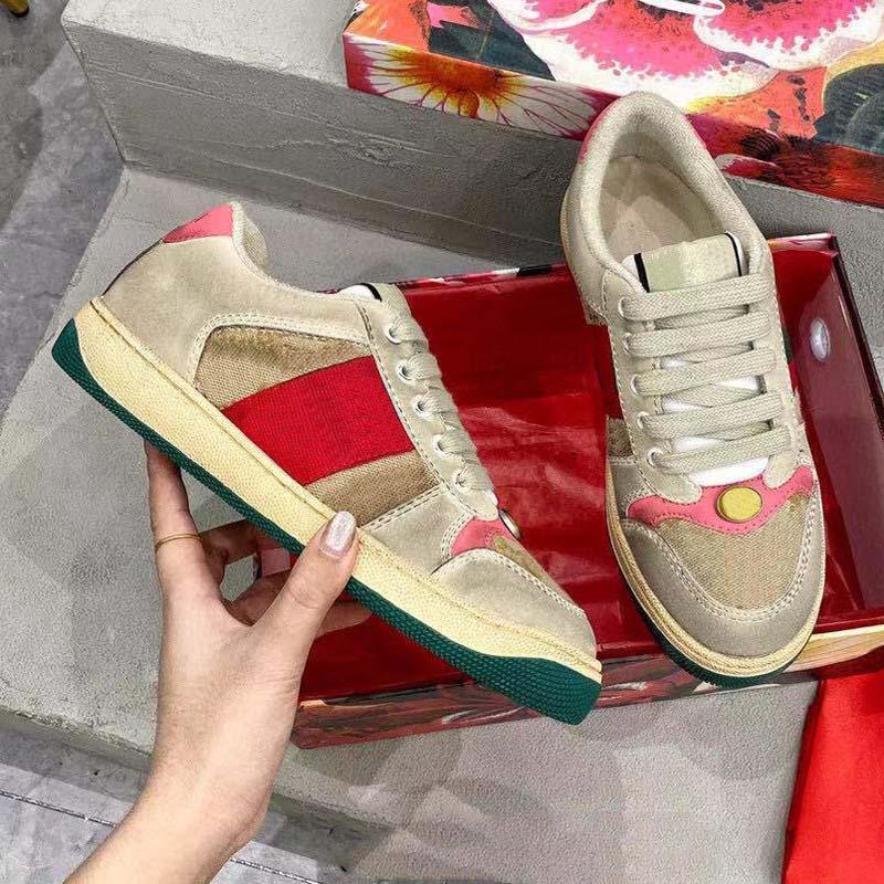 Gucci shoes 2021 venda quente qualidade de couro homens mulheres sneakers série camuflagem sapatos estilistas pretos lates lace up sneakers borracha baixa plataforma superior sho