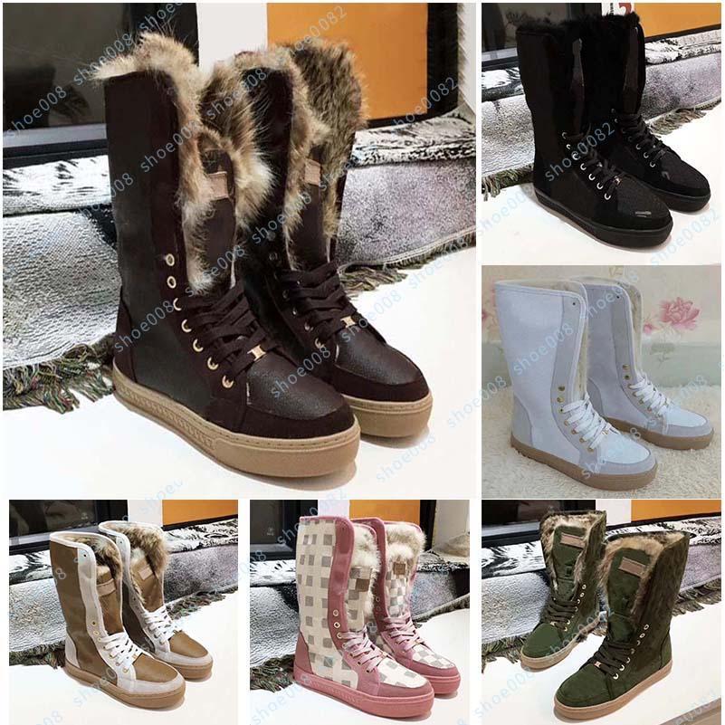 Winter heißer Verkauf Mode Luxus Designer Stiefel Schneeschuhe Wildleder Warm 35-41 Gürtelbox Shoe008 2602