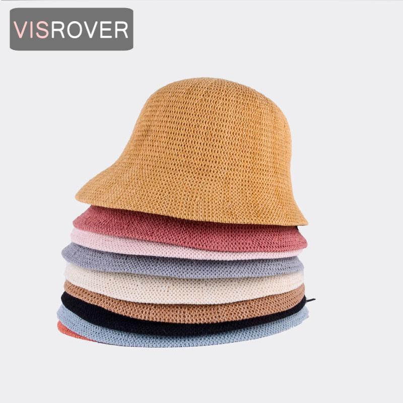 Visrover جديد 9 colorway الأصفر دلو قبعة للجنسين بوب قبعات الأسود الهيب هوب القبعات للنساء الصيف كاب شاطئ الشمس الصياد قبعة هدية