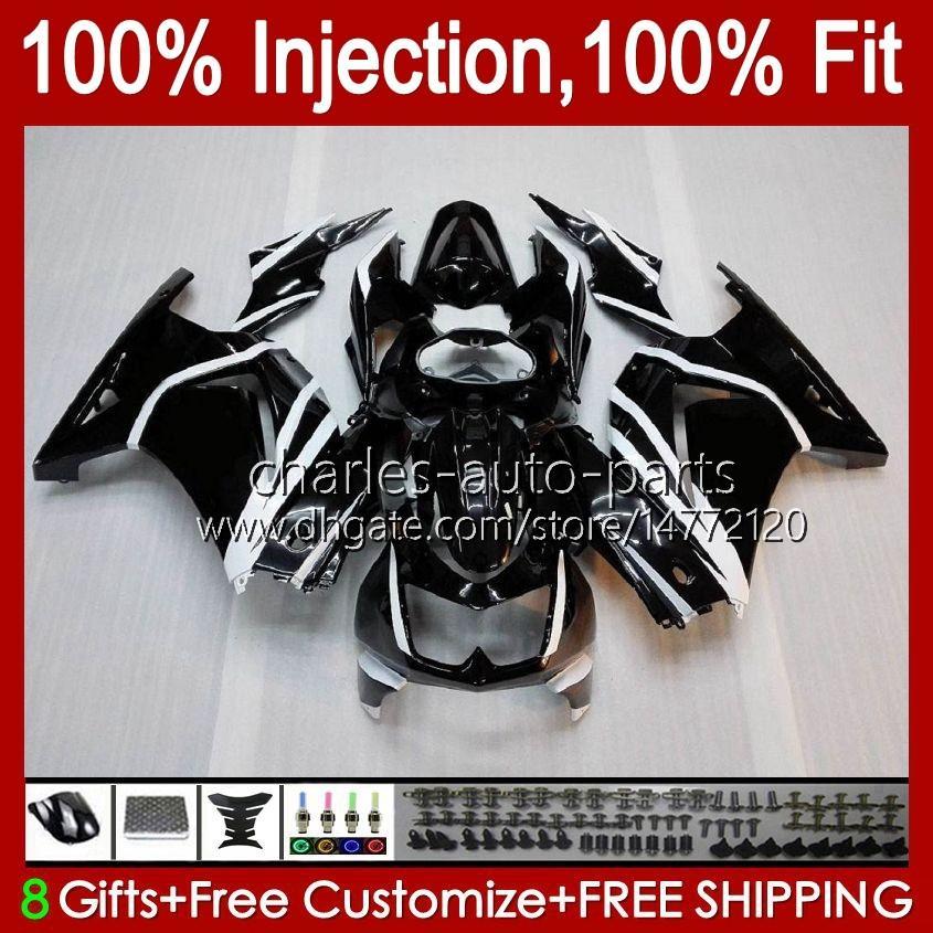 Injectie voor Kawasaki Ninja ZX250R Glanzend zwart EX250 2009 2009 2010 2011 2012 13HC.15 EX250R ZX-250R ZX250 ZX 250R 08 09 10 11 12 Kuip