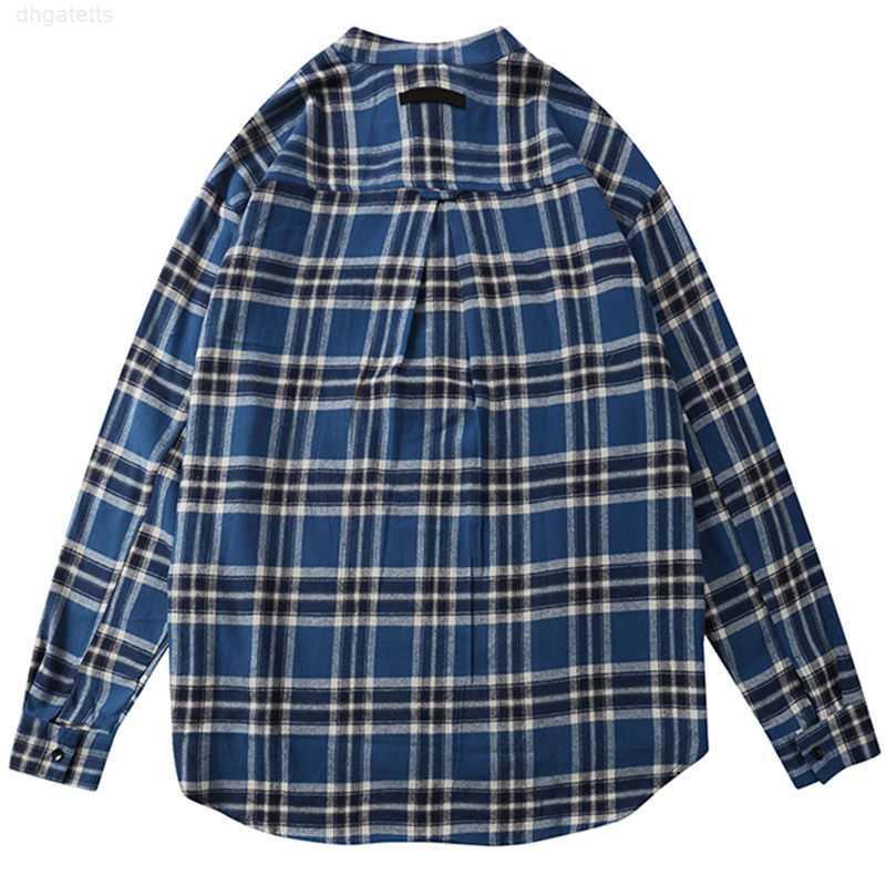 2021 Высокая известная мода стилист мужские качества рубашки клетчатые рубашки мужчины мужчины женщины пары с коротким рукавом рубашка