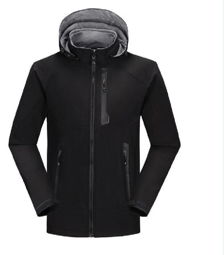 패션 - 2021 망 디자이너 겨울 코트 캐주얼 솔리드 컬러 운동 자켓 후드 윈드 브레이커 따뜻한 코트 아시아 크기 S-3XL