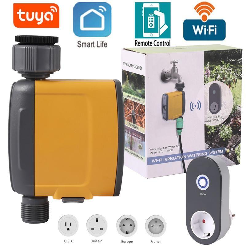 Wifi Connection Irrigation System Soil Moisture Sensor Waterproof Electronic Irrigation Controller Garden Watering Timer