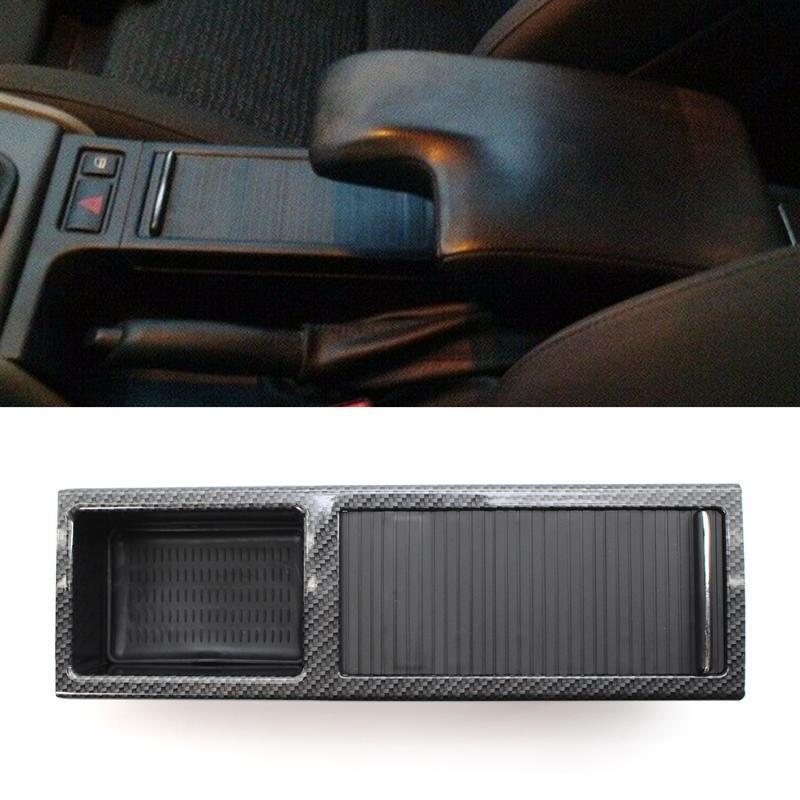 Car Organizer Center Console Cup Holder Storage Insert 51167038323 Carbon Fiber Style Water