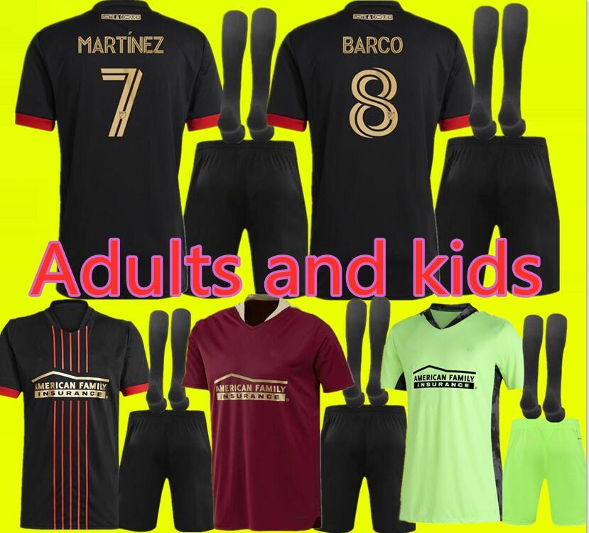 MLS 21 22 Los Angeles La LAFC Galáxia Inter Miami Futebol Jerseys 2021 2022 Atlanta United Novos Adultos e Crianças FC Higuain Futebol Camisas