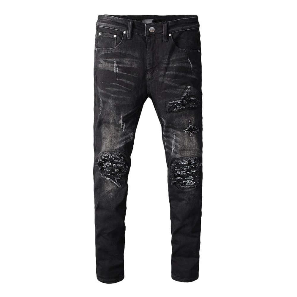 رجل المصمم جينز الرجال النساء العليا شارع دراجة نارية السائق ممزق الجينز الهيب هوب عارضة رجل نحيل جينز الدينيم السراويل حجم 28-40