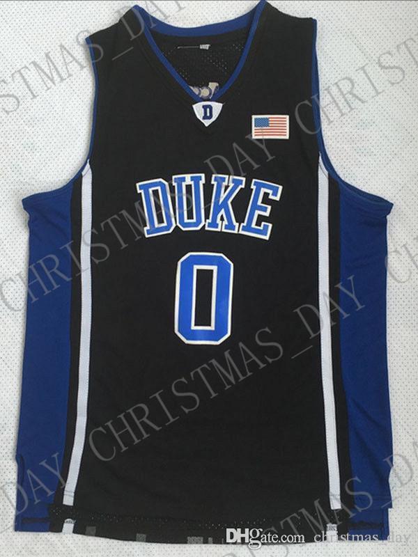Дешевые оптом Jayson Tatum Jersey 0 # Duke Blue Devils Баскетбол Джерси настроить любое имя Номер мужчины Женщины Молодежный баскетбол Джерси