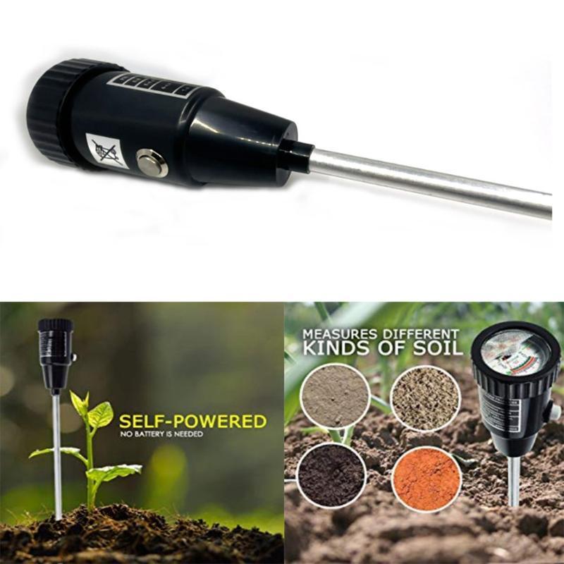 Soil PH And Moisture Meter Tester Plant Earth PH Moisture Light Soil Meter Temperature Tester Sunlight For Garden