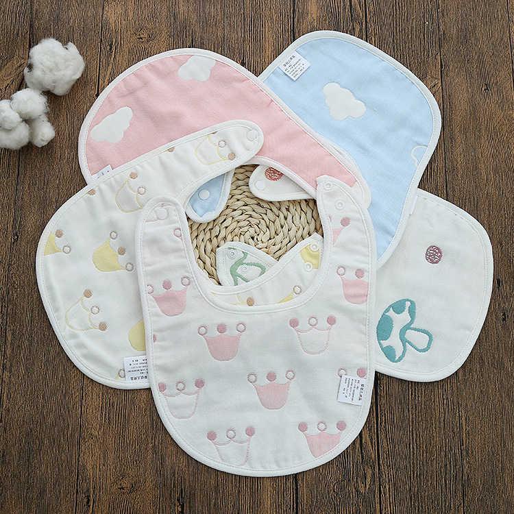 Und Mutterprodukte-Knopf-Mundtuch sechsschichtige Gaze-Baby-Bib-Bauchtasche