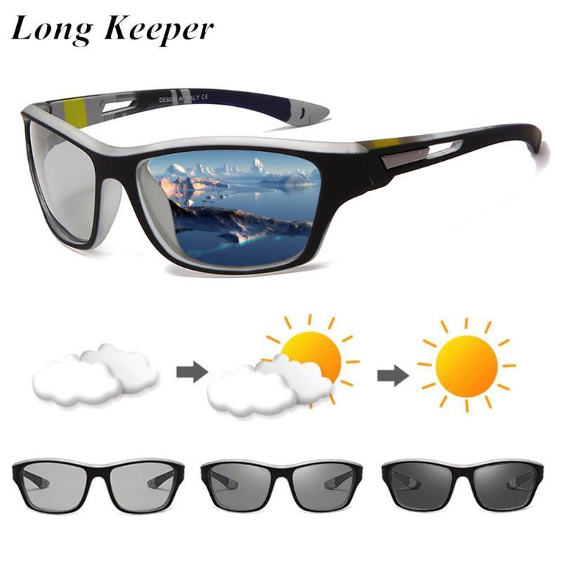 Longkeeper Men Photocromic Sunglasses 2021 NUEVO nuevo conducción polarizada gafas de sol masculina Cambio clásico Color Gafas deportivas UV400