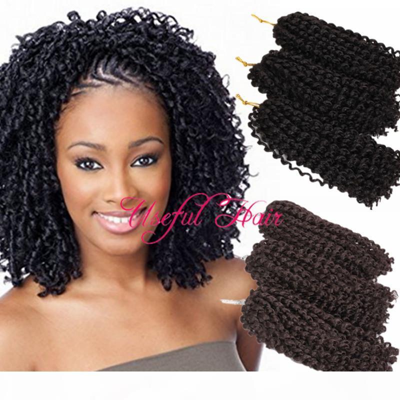 Faydalı Mali Bob # 27 Ombre Kahverengi Sarışın Renk Malibob 8 inç MarlyBob Kinky Kıvırcık Saç Tığ Örgüler Saç Uzantıları Sentetik Barides Saç