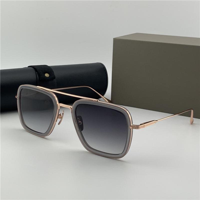 Дизайнерские очки Sonnenbrille Мужские старинные очки Costa Eye Frames Womens Солнцезащитные очки Тени Дизайнер Металлические очки? Золотая рамка 006 Desi MGJV