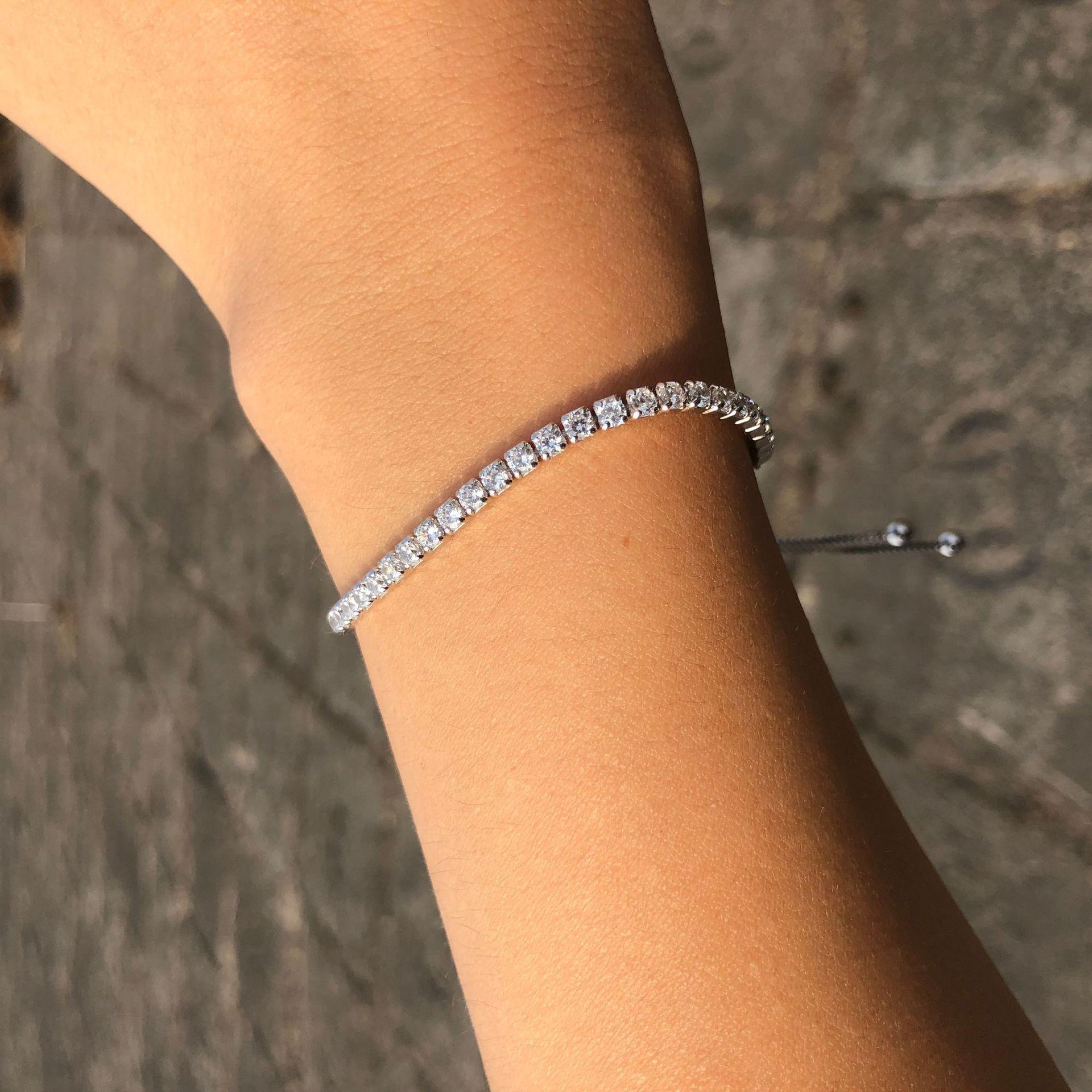 Wong Rain 100% 925 Sterling Sterling Créé Moissanite Gemstone Bracelet Charme Mariage Engagement Bracelet Fine Bijoux Fine Bijoux Grossistes