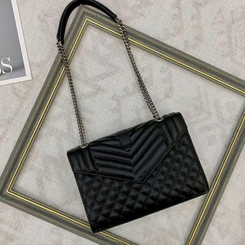 Chain Handbag Purse Crossbody Shoulder Bag Caviar Genuine Leather Messenger Bag Fashion Diamond Pattern Quilting envelope Bags High Quality