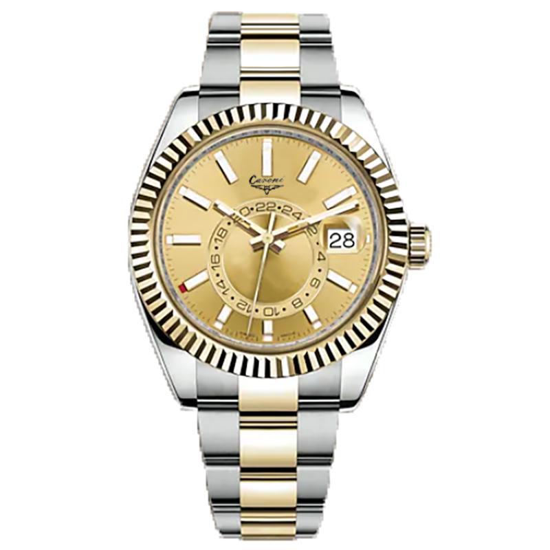 LMJLI-U1 Kalite Erkek İzle 42mm Paslanmaz Çelik Saatler Erkekler 2813 Otomatik Mekanik Aydınlık Saatı Su Geçirmez Montre de Luxe