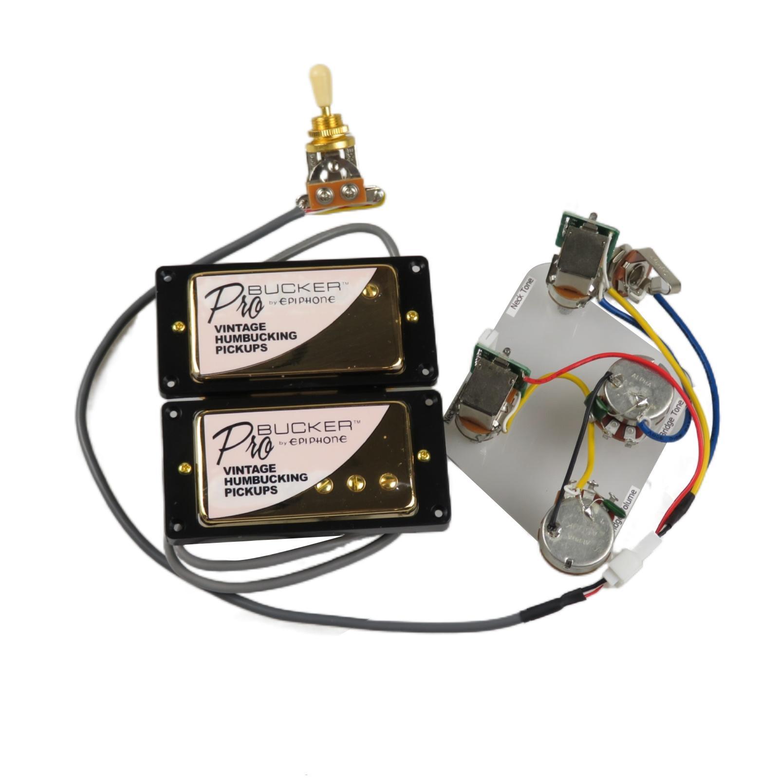 Pickups Alnico 5 Humbucker Push / Tiro Cablaggio Chitarra elettrica per Gibson