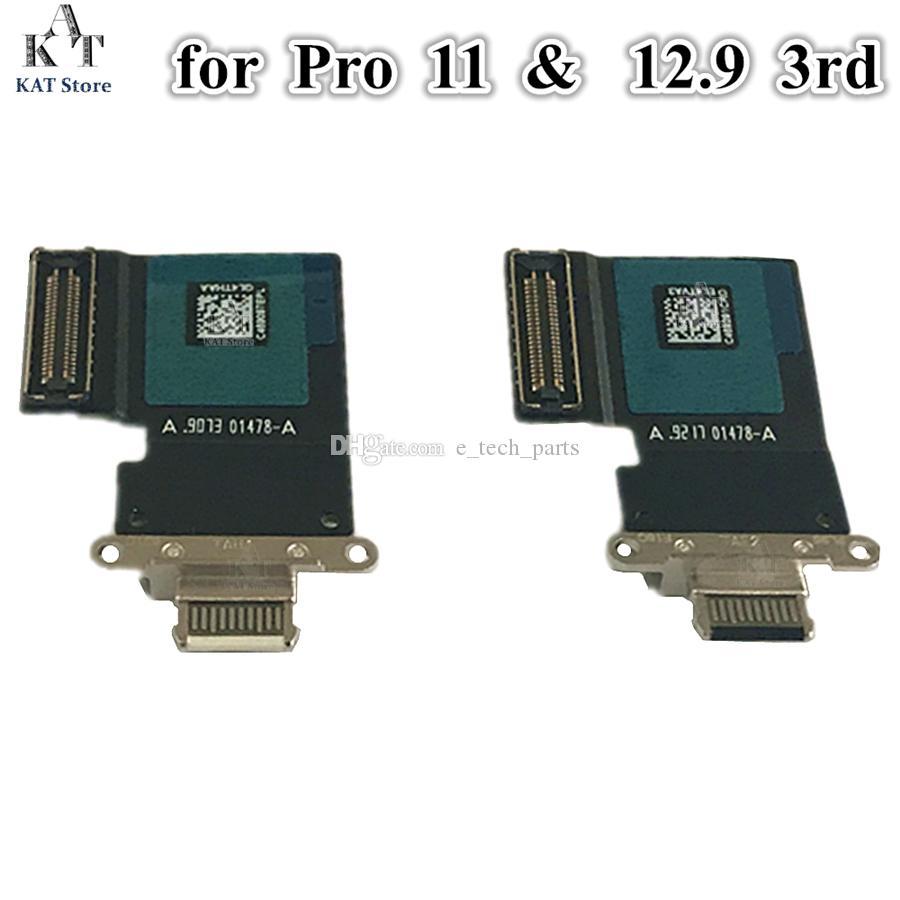 İPad Pro için 10 adet 12.9 3RD GEN A2014 Pro 11 inç A2013 USB Dock Şarj Şarj Bağlantı Noktası Bağlayıcı Flex Kablo Yedek Parçalar