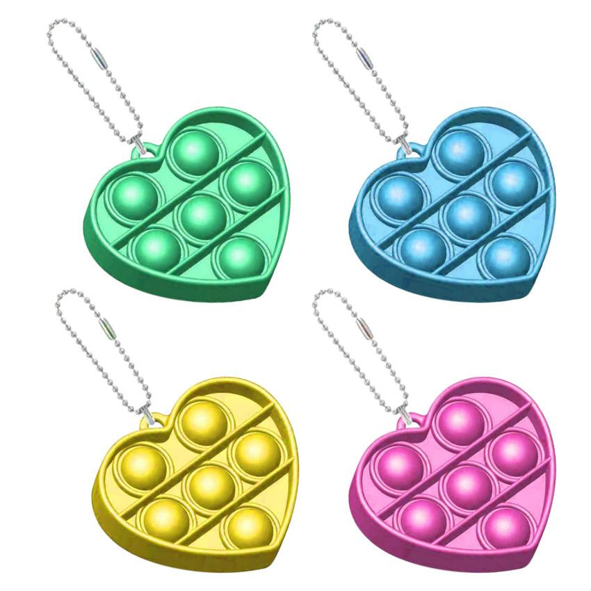 새로운 푸시 거품 Fidget Antistress 장난감 성인 어린이 심장 Fidget 감각 장난감 자폐증 특별 필요 스트레스 릴리버
