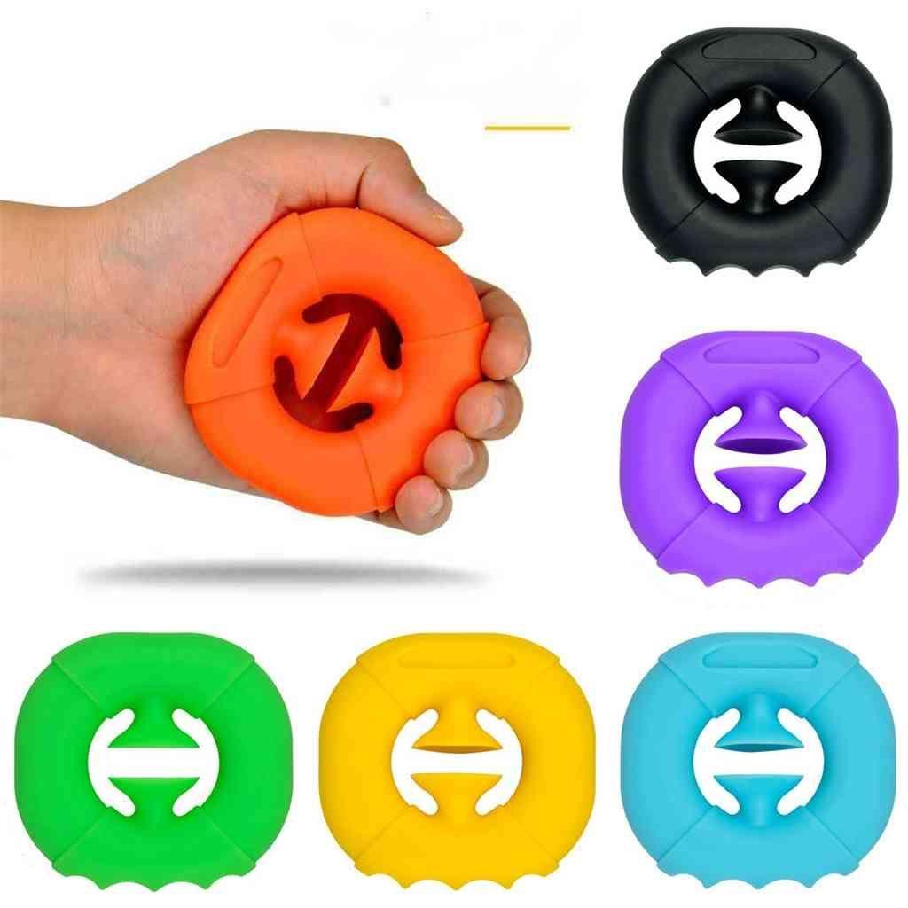 Grips Fitness Mano Fidget Toys Squeeze Toy Finger Grip Press Silicone Rehabilitación En forma de Snapper Agarra Popper Sensory Autismo Estrés Alivio Juego G679DOR