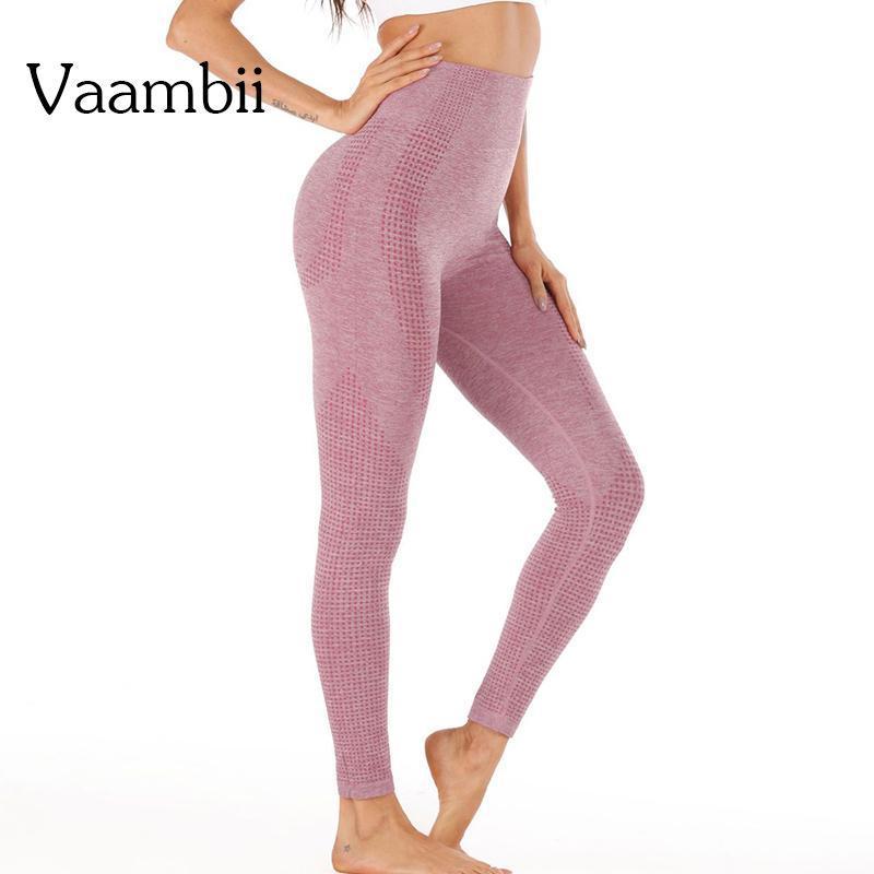 Pantalons Sportswear for Women Leggins gymnase Leggings sans couture avec une taille élevée Vêtements de course Leggins de sport