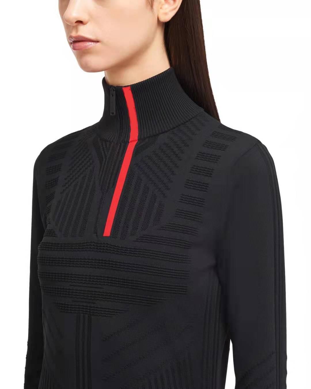 여성 스웨터 양모 outwears 탑스 스웨터 레이디 스웨터 니트 티셔츠 긴 소매 높은 목 웜 스웨터 편지 자수 neckline Zippers 조정