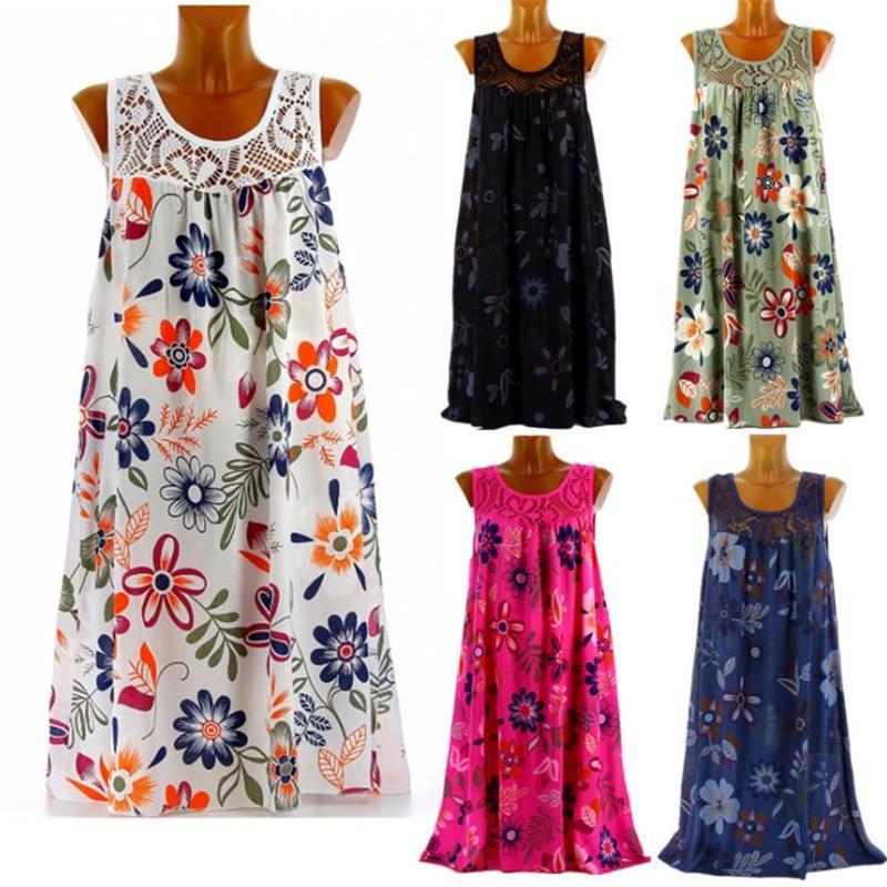2021 Beach Summer Dress Print Lace Flower Girls Crop Top Vest Dresses Backless Skirt Causal Sexy Women Party Club Evening Clothing