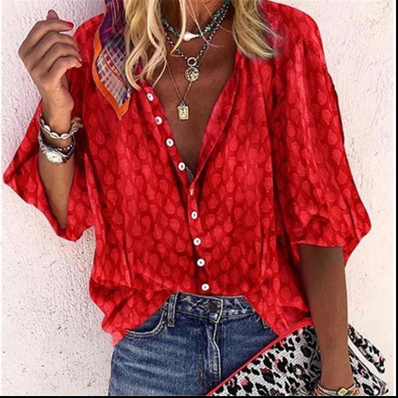 Kadın Gömlek Turuncu Uzun Kollu Bayan Gömlek Bluz Sonbahar Ofis Bayan Bluzlar Tops Yaz Vintage Düğme Kadın