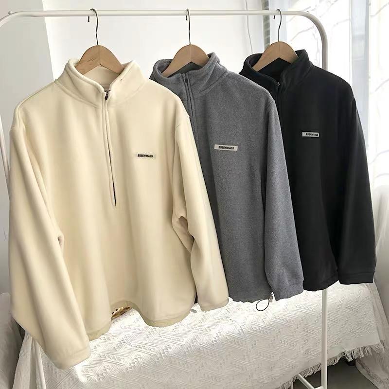 High street fear of god essentials fog essential womens mens hoodies round neck brand hoodie sweater elements for men women