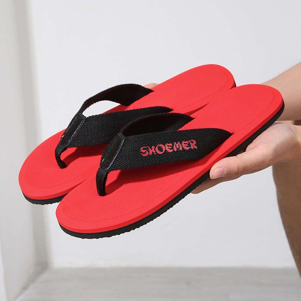 2021 Yeni Yaz erkek Kauçuk Plaj Çevirme Flop Moda Sandalet