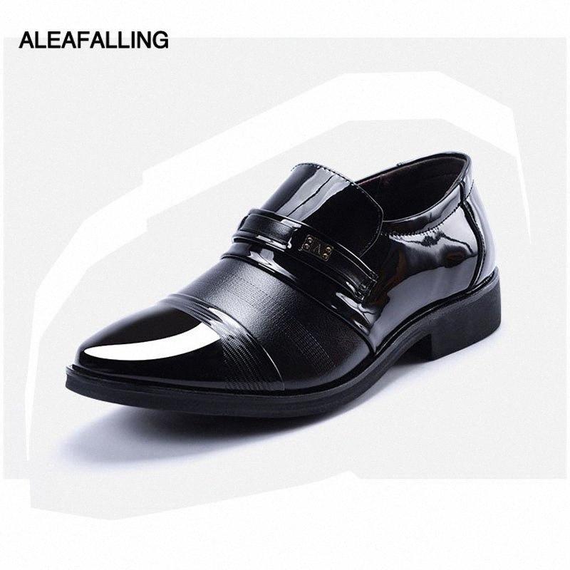 Aleaachofalling patchwork respirável homens sapatos formais dedo ponta de dedo couro de patente oxford sapatos casamento homens vestido negócio mds22 a9hk #