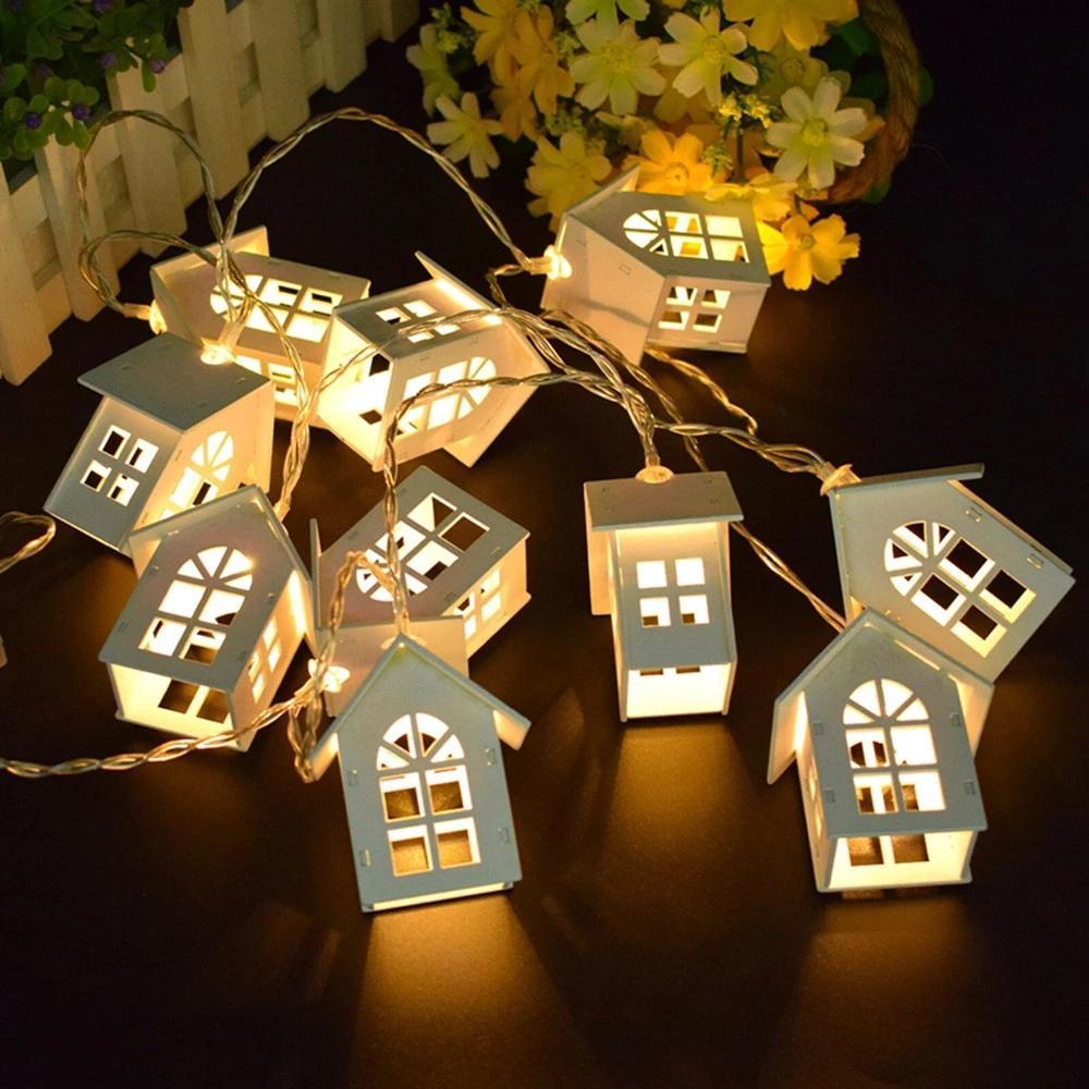 2M LED LED Corda Fada Garland Wood House 10leds Natal Ano Novo Decoração Partido de Casamento Sala de férias Lâmpadas Novidade