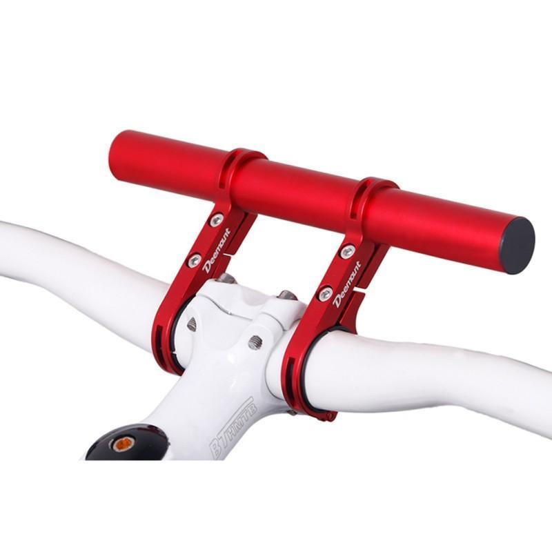 Bisiklet Çerçeveleri 20 cm Bisiklet Bisiklet Gidon Genişletilmiş Braketi Far Dağı Bar Bilgisayar Tutucu Lamba Alaşım Karbon Fiber Destek Genişletici