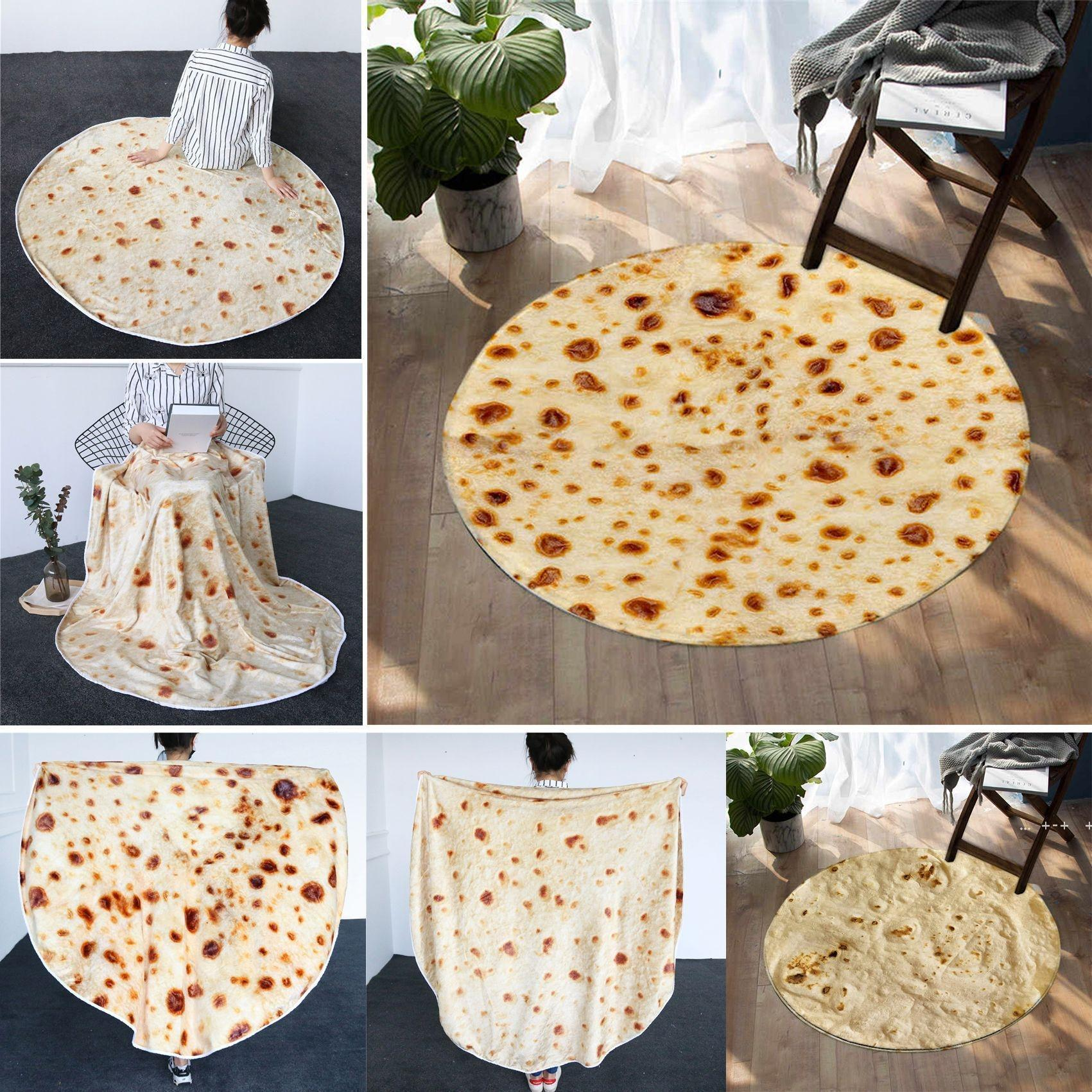 Bedding Mexican Burrito Blanket 3D Corn Tortilla Flannel Blankets for Bed Fleece Throw Funny Plush Bedspreads FWA8583