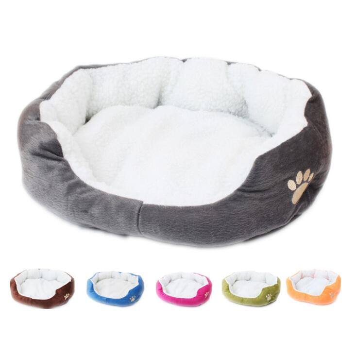 Animal de estimação colchões casa casa sherpa espessura pet den grande médio médio cães pequenos gato confortável cama acalmada cama lavável pet pet bed mar ahc6673